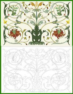 www.sdelaj.com_vectorized-nature-ornament.gif 494×640 пикс Wall Painting Decor, Art Decor, Decoration, Motif Arabesque, William Morris Patterns, Russian Art, Abstract Shapes, Paint Designs, Islamic Art