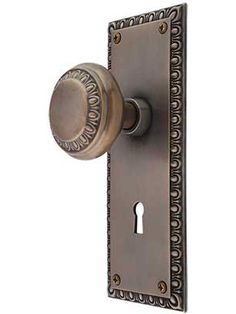 door hardware choice - at new upstairs doors & replace existing at ground floor french doors