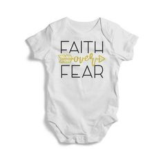 ff27fd51a See more. Faith Over Fear Baby Short Sleeve Bodysuit #fashion #clothing  #shoes #accessories #