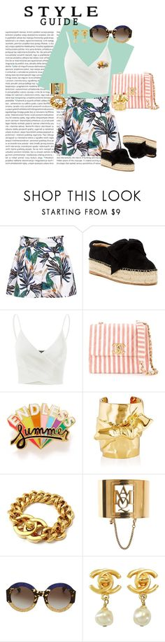 """""""Sin título #46"""" by emmaabou ❤ liked on Polyvore featuring Reiss, J/Slides, Doublju, Chanel, ban.do, Jennifer Fisher, Alexander McQueen and Gucci"""