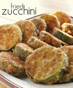 "FRIED ZUCCHINI: ~ From: ""Pink Tractor.Com"" ~ Zucchini is delicious fresh from the garden, in a salad or in a casserole. But it is especially amazing fried. And this easy recipe is perfect for your next appetizer or snack because you probably already have these ingredients in your pantry and refrigerator!"