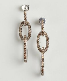 Colette Nicolai : sterling silver and cognac diamond link earrings