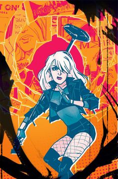 Black Canary #4 cover by Annie Wu