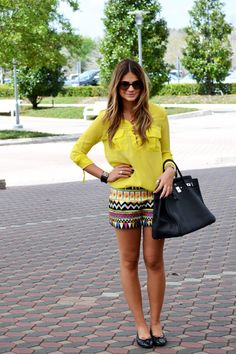 Printed Shorts - Thassia Naves