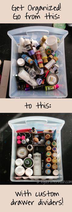 DIY drawer organizers: so simple to make!
