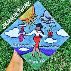 Q U E E N Graduation Cap Designs, Graduation Cap Decoration, College Graduation, Rn School, Graduate School, High School, Grad Pics, Graduation Pictures, What Is A Delta