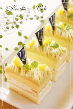 さつまいも☆モンブランショートケーキ b