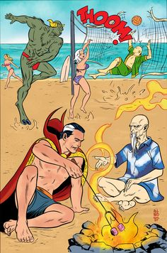 Mike Allred A Dr Strange day at the beach, in Gerry Turnbull's my colours over other artists Comic Art Gallery Room Strange Photos, Doctor Strange, Comic Books Art, Comic Art, Book Art, Mike Allred, Graphic Novel Art, Classic Comics, Book Of Life