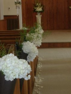 Wedding Pew and Chair Flower Decorations and Bows. Wedding Pews, Church Wedding Decorations, Flower Decorations, Pew Flowers, Fresh Flowers, Florist Supplies, Groom Boutonniere, Wrist Corsage, Table Centerpieces