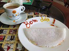 Tapioca de queijo com presunto + Capucino-  A SINHAZINHA (Fortaleza-Ce)
