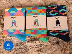 3 PACK of colorful pattern socks for men / mens socks/ fun socks/ happy socks/ gift for him door MaplePropeller op Etsy https://www.etsy.com/nl/listing/208231835/3-pack-of-colorful-pattern-socks-for-men