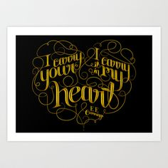 I carry your heart (with me) Art Print by Katie Hodgson - $18.00