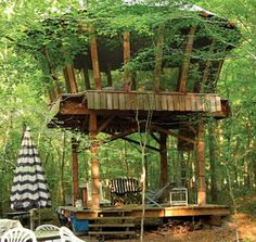 yurt-tree-house - a yurt Jessica would love!
