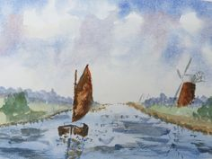 Watercolour Boat - By Bazza