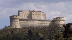 La Rocca di San Leo, built in the Renaissance, Rimini, italy