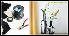 Learn to make an easy Decorative Wire Vases by following this how to DIY tutorial. Grab the tools (electrical wiring and tape, fabric) and get creative! Fabric Strips, Electrical Wiring, Lets Play, Diy Tutorial, Wire, Home Appliances, Let It Be, Vases, Creative