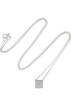 Anita Ko Spike 18-karat white gold diamond necklace