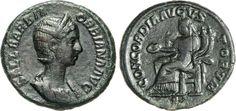 NumisBids: Numismatica Varesi s.a.s. Auction 65, Lot 223 : ORBIANA (moglie di Alessandro Severo) Asse. D/ Busto diademato e...