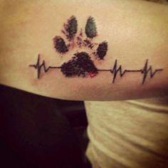 Life line paw print