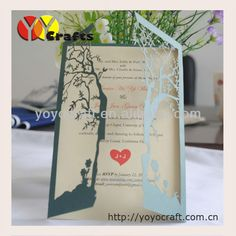 2013 hot for USA laser cut wedding souvenirs decorations flower love tree invitations card gifts with mix color $132.00