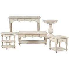 Just purchased the 2 round tables and the large coffee table.  Love them!  They really create the cottage coastal vibe!
