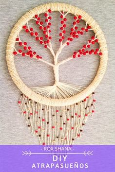 Rope Crafts, Shell Crafts, Yarn Crafts, Diy Crafts For Adults, Hobbies And Crafts, Diy Crafts To Sell, Dream Catcher Patterns, Dream Catcher Decor, Dream Catchers
