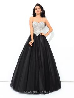 #QueenaBelle Ball Gown Sweetheart Sleeveless Floor-Length #Quinceanera #Dresses. Up to 75% off !