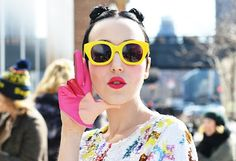 Karen Walker eyewear.  Fun!