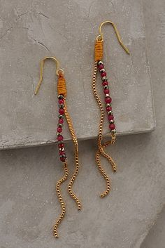 Dotted Plains Drop Earrings