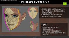 GUILTY GEAR Character Modeling, 3d Character, Character Design, Face Topology, Guilty Gear Xrd, Modeling Tips, 3d Tutorial, Model Face, Animal Sketches