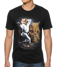 Stop All Fights Before They Start By Wearing a Karate Cat T-Shirt