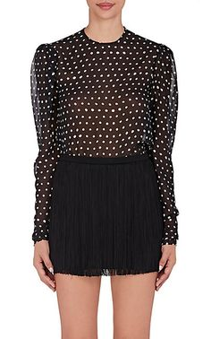 Polka Dot Silk Blouse from Saint Laurent $1390