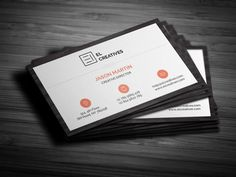 Best Clean Wooden Business Card CreativeWork247 - Fonts, Graphics, Themes, ...