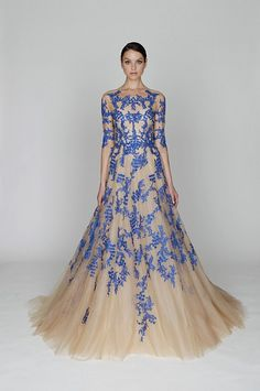 """Monique Lhuillier Pre-Fall 2012. """"So elegant, so regal -- if my winning an Oscar is as definite as Meryl Streep winning one, I'm totes wearing this."""""""