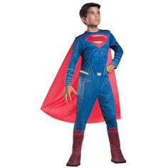 It's a bird, it's a plane, it's Superman! Dress up as the famous hero with this Superman Halloween costume; it's perfect for those who adore . Superman Halloween Costume, Superman Costumes, Halloween Costumes, Halloween Parties, Blue Costumes, Fancy Costumes, Super Hero Costumes, Superman Outfit, Batman Vs Superman