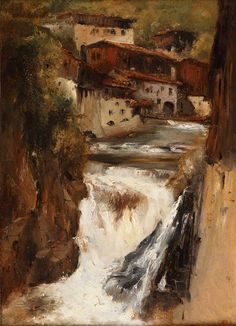 """Rousseau, """"Waterfall in Thiers"""""""