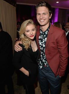 Chloë Grace Moretz and Ansel Elgort at the HFPA/InStyle party