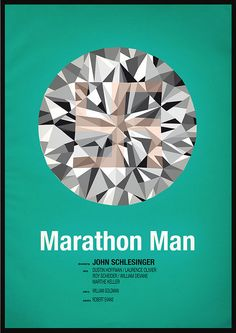 Marathon Man (1976) ~ Minimal Movie Poster by Chris Thornley #amusementphile