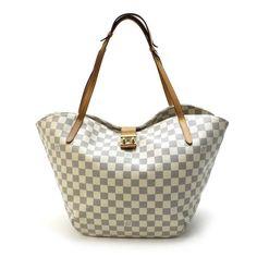 Louis Vuitton  Salina GM Damier Azur Shoulder bags White Canvas N41209