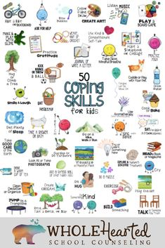 Help students or clients identify healthy coping skills that they already use or might consider using the next time they need some help. Social Emotional Learning, Social Skills, Kids Coping Skills, Counseling Quotes, Mindfulness For Kids, School Social Work, Anxiety In Children, Therapy Activities, Sorting Activities