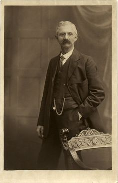 Vintage Real Photo Postcard of a Gentleman c. 1910s. £2.00, via Etsy.