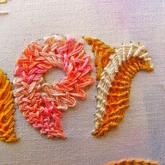 Week 3 ✂ Feather stitch (TAST) | -- ✄ - ✄ - the smallest forest - ✄ - ✄ --