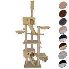 Árbol rascador para gatos, hasta el techo (altura ajustable), 240-260 cm (beige) dibea http://www.amazon.es/dp/B00P30UJEO/ref=cm_sw_r_pi_dp_fhXswb178VMDW
