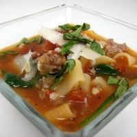 Sausage and Fire Roasted Tomato Soup by Colby Paterson