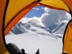 """""""The Mystical Mountain..""""  A View from inside a tent at Mt. Makalu, Khumbu region of Nepal"""