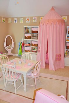 The tent is a great idea for a play room, or even just a reading nook in a kids room.