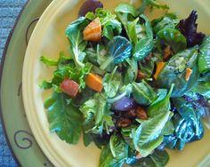 Sweet Potato and Baby Greens Salad