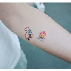 funny daughter and son monkeys tattoo