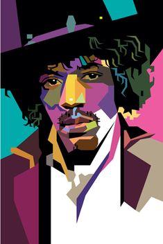 Jimi Hendrix 2 in WPAP by wedhahai on DeviantArt