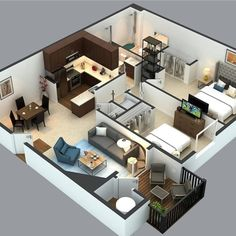 Floor Plan DESIGN Model with Realistic Rendering Contact us (Low Budget Good Quality) . Sims House Plans, House Layout Plans, New House Plans, Dream House Plans, Small House Plans, House Floor Plans, Small House Design, Modern House Design, Layouts Casa